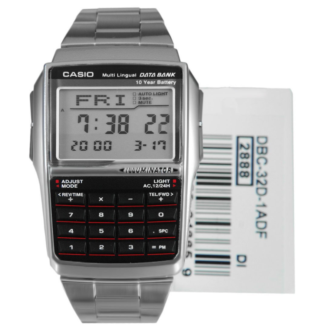 eebf4e22ae9 Casio DBC-32D-1A DBC-32D-1AD DBC-32D-1 DBC-32D DBC-32D-1ADF Data Bank  Calculator Watch AUTHENTIC with WARRANTY