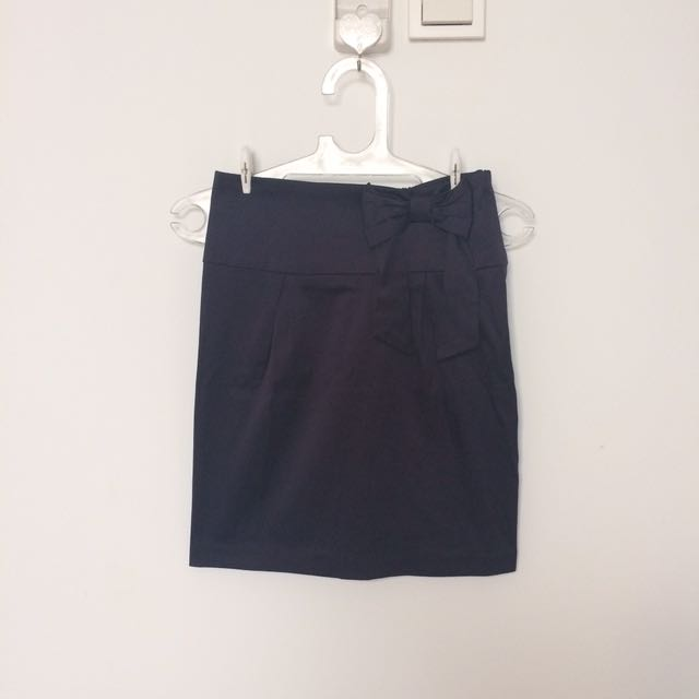 Deep Purple Mini Office Skirt Rok Kerja Kantor Mini