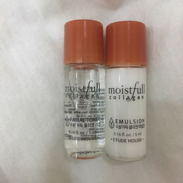 Etude House Moistfull Collagen Toner And Emulsion