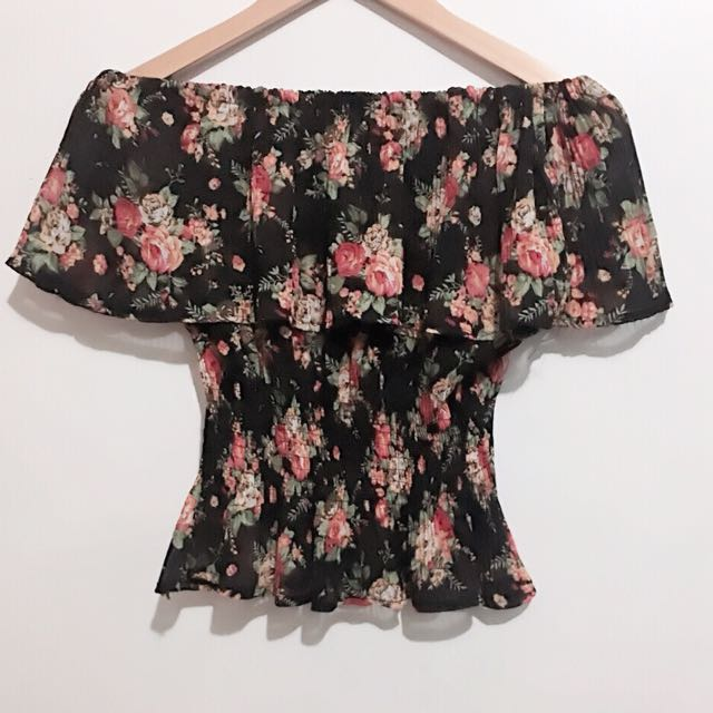 Floral Off shoulder