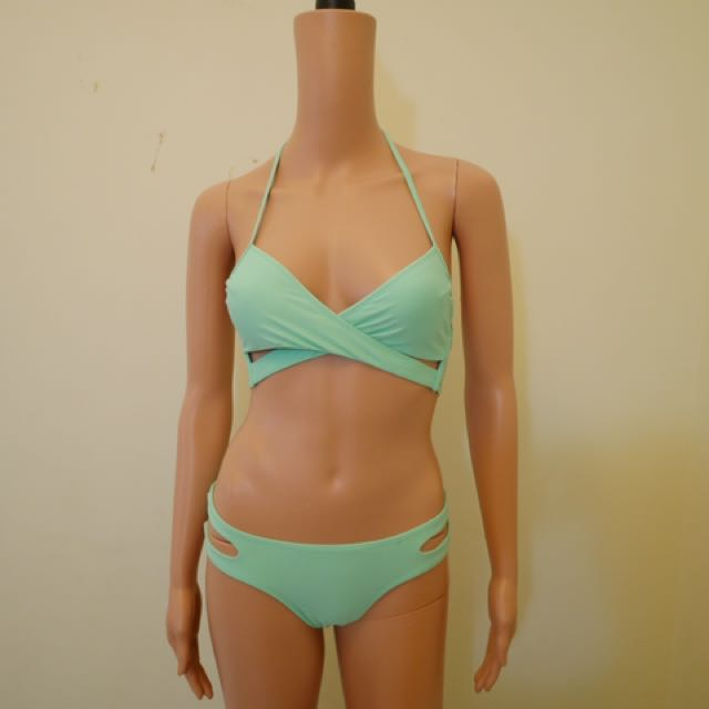 Forever21 Criss Cross Sky Blue Bikini