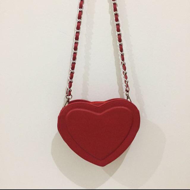 FREE ONGKIR Heart Sling Bag