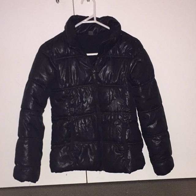 Girls Black Pufffer Jacket