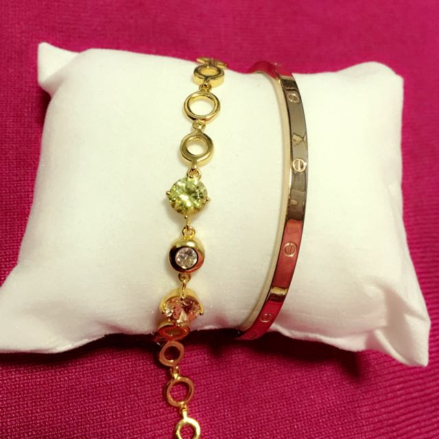 Gold Plated Bracelets ( 2 For 500)