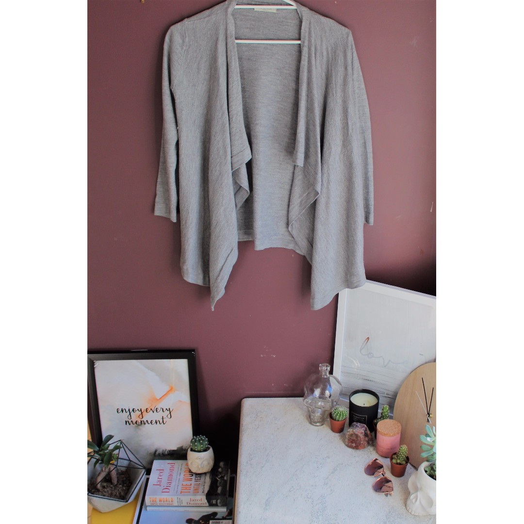 Gray Cardigan - METALLICUS