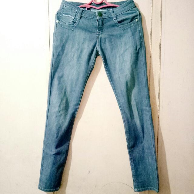 Dollhouse Gray Denim Pants