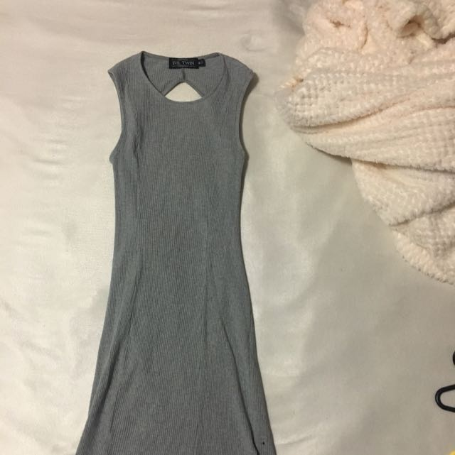 Grey Tight Dress