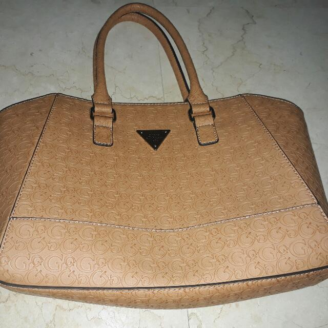 Authentic Guess Leather Hand Bag