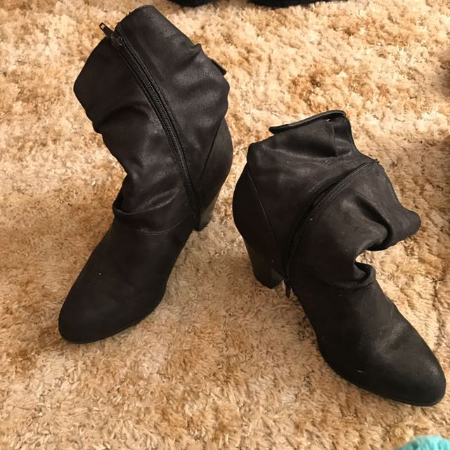 Heeled Winter Boots With Zip