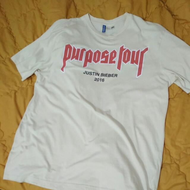H&M Justin Bieber Purpose Tour tee