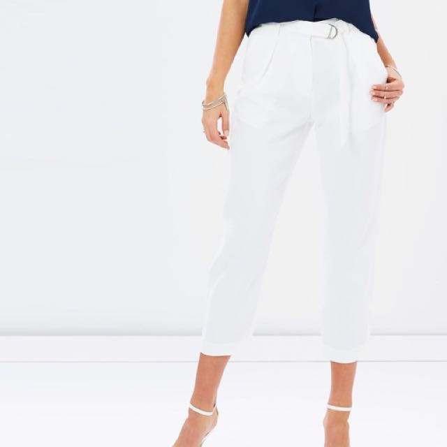 Iconic/Atoms&Here White Trousers Dress High Waisted Pants Current Season