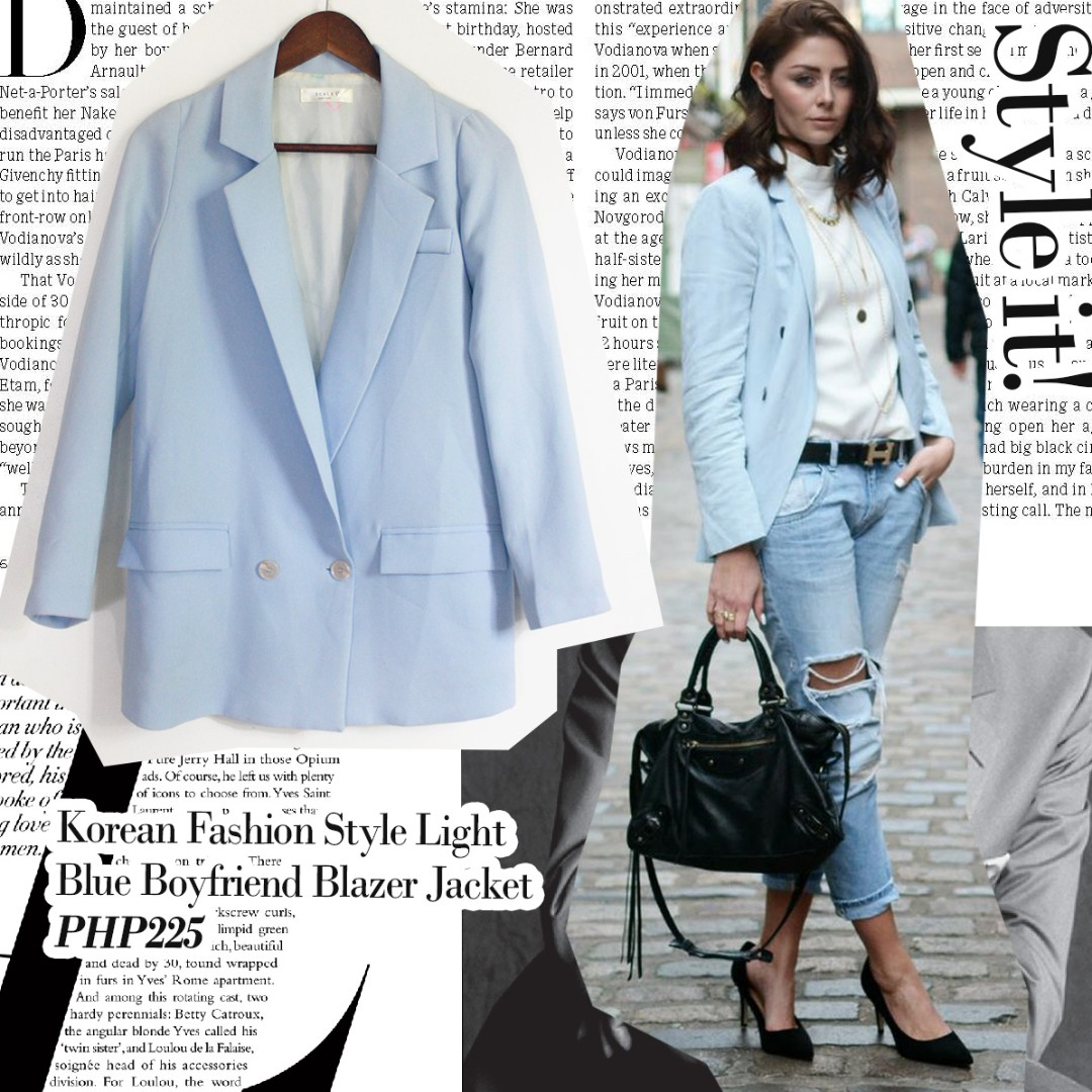 Womens Baby Blue Blazer Almaderock Best Photo 2018