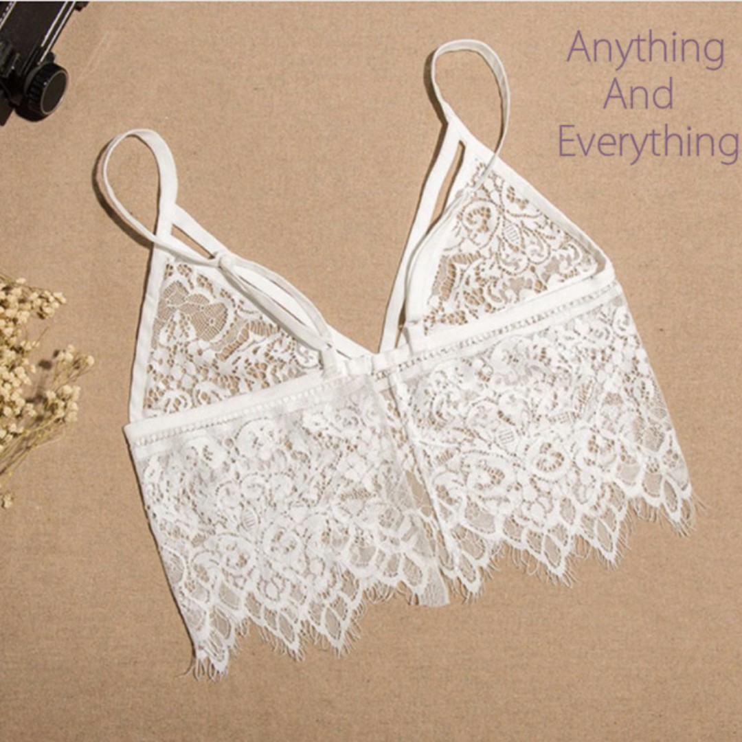 Lace Knit Bralette (Unpadded)
