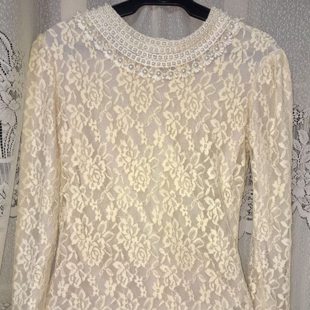 Lacy Beads Long Sleeve