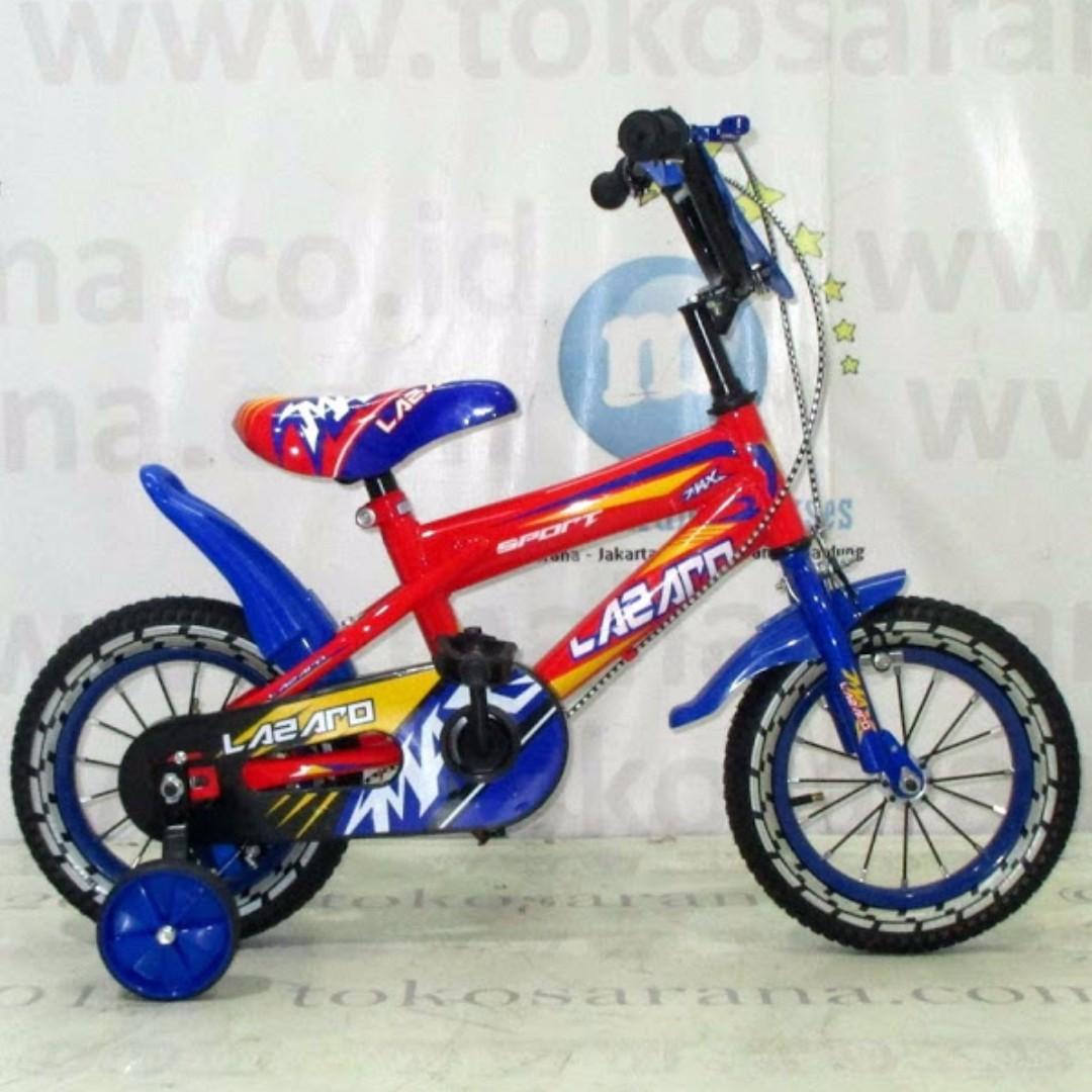 Lazaro 230 Sport BMX 12 Inci Sepeda Anak Laki-Laki Usia 2-4 Tahun