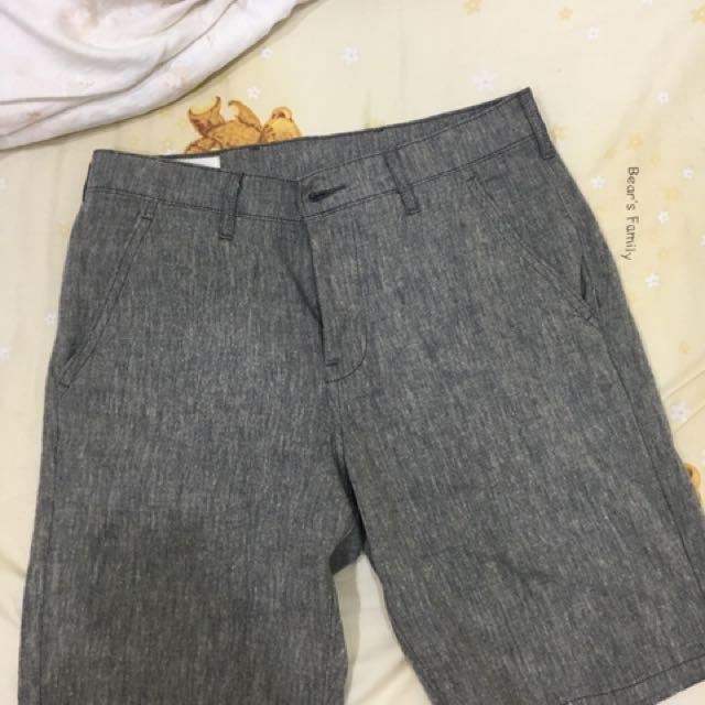 Levi's 休閒短褲 麻灰 日本購入
