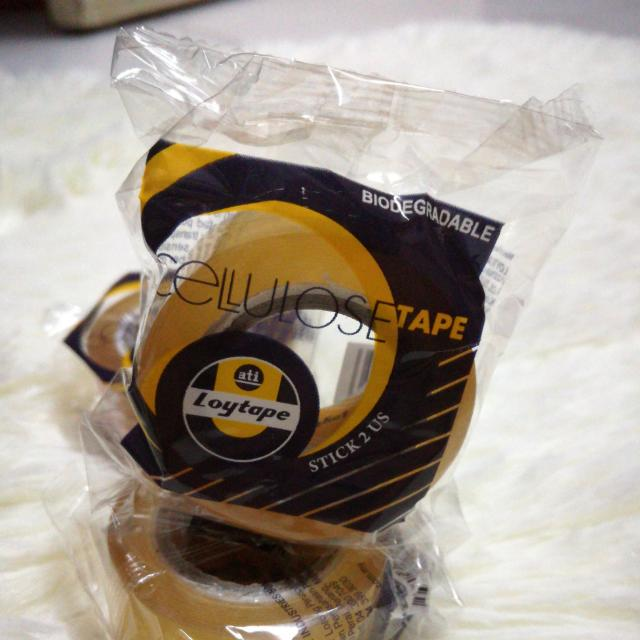 Loytape Cellulose Tape [Biodegradable] Cellophane Tape