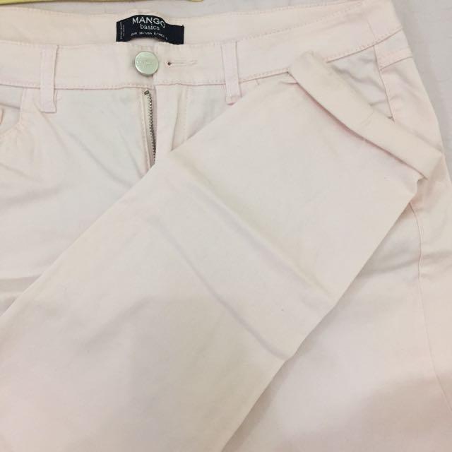MANGO Light Pink Jeans