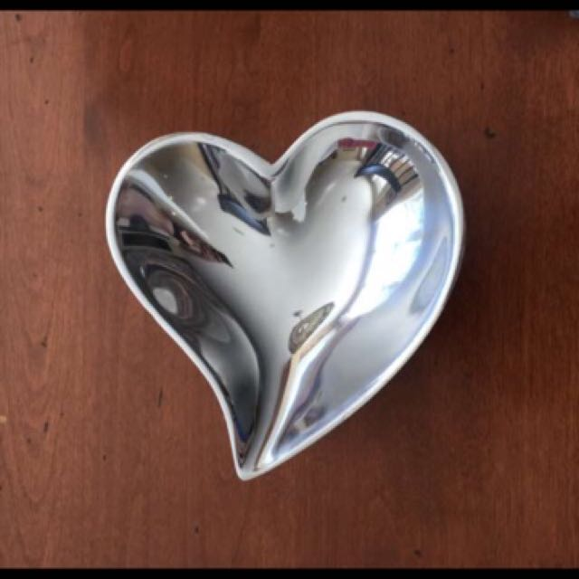 Mariposa Sterling Silver Heart Dish