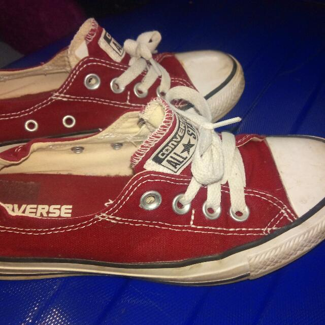 Maroon Converse Sneaker Flats