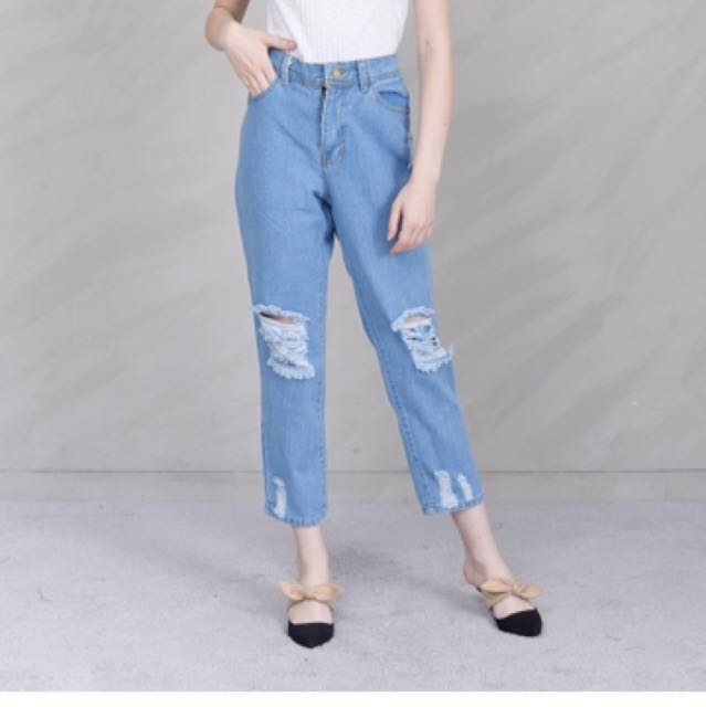 May Outfit Ripped Jeans