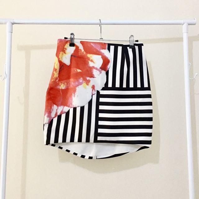 Mia Stripe/ floral Pencil Skirt