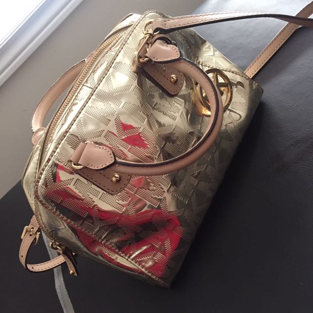 MICHAEL KORS METALLIC SATCHEL