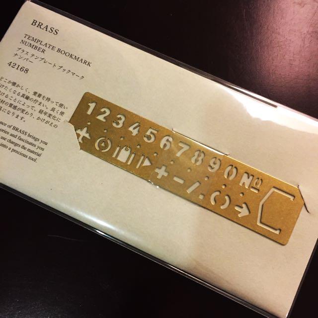 (新)日本✈️MIDORI 黃銅 數字 書籤尺