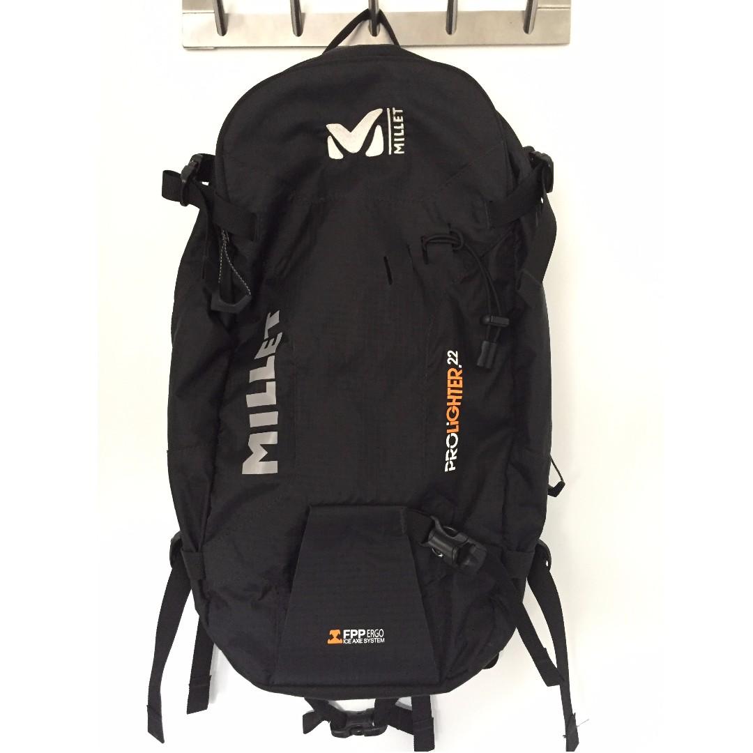 5258a6ee11 Millet Prolighter 22 backpack BLACK