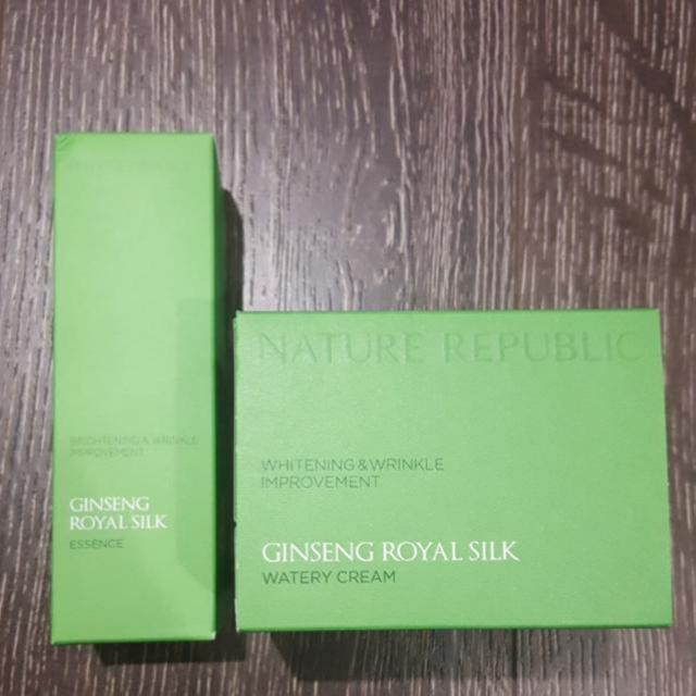 Nature Republic : Ginseng Royal Silk (Essence and Cream)