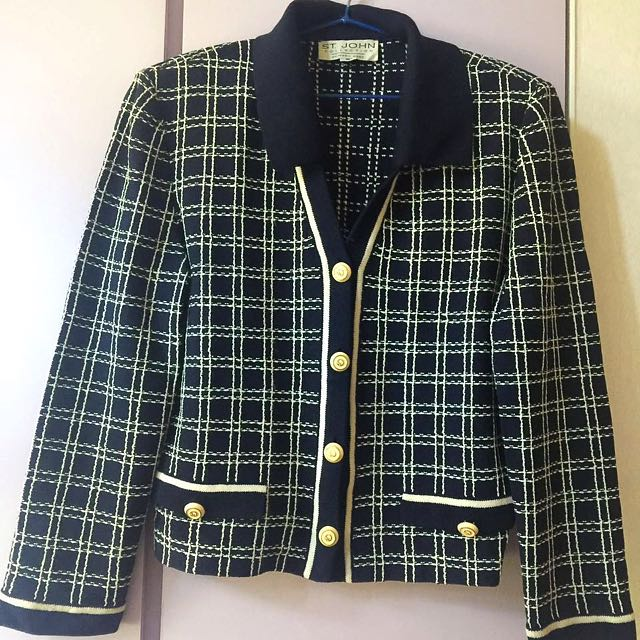 NEW 99% OFF👗St. John👗Authentic Finest Outfits Office Evening Jacket Black And White Moving SALE