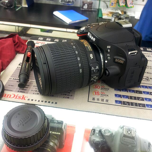 ✔【售】Nikon D5100 單眼相機+18-105旅遊鏡頭(公司貨)