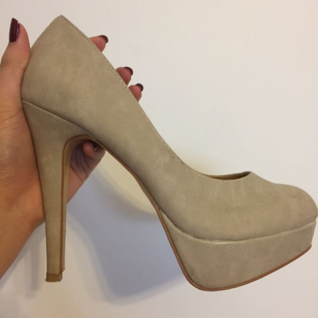 Nude/Beige High heel Pumps