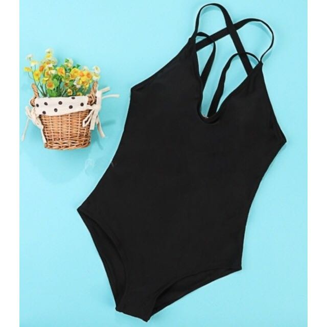 One-Piece Strappy Back Swimsuit