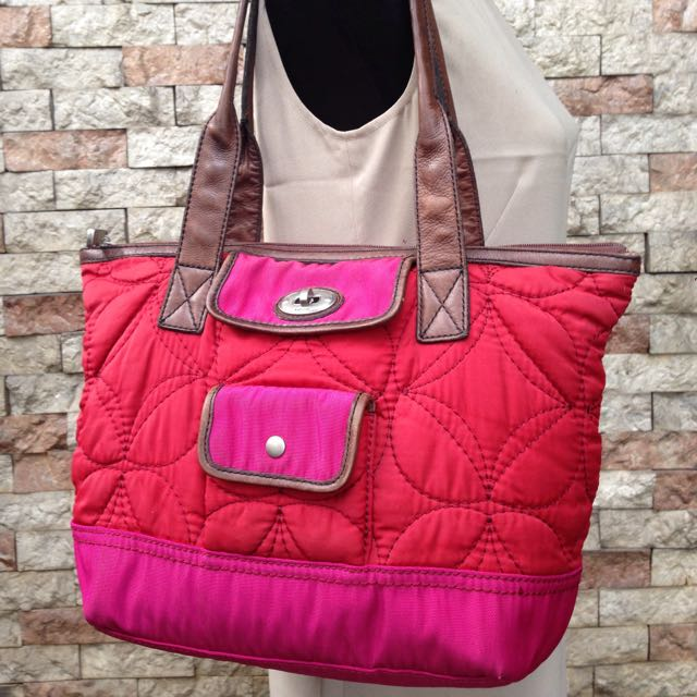 Original Fossil Quilted Tote Bag
