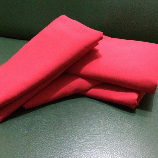 Pashmina Diamond Crepe Red