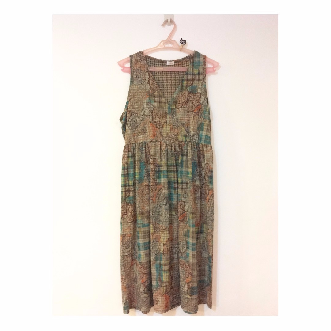 Patched Pattern Dress