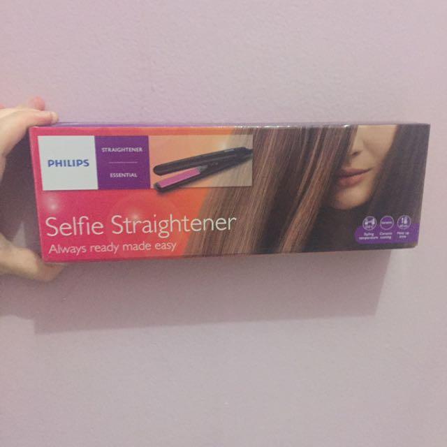 Philips Selfie Straighten Catok Rambut