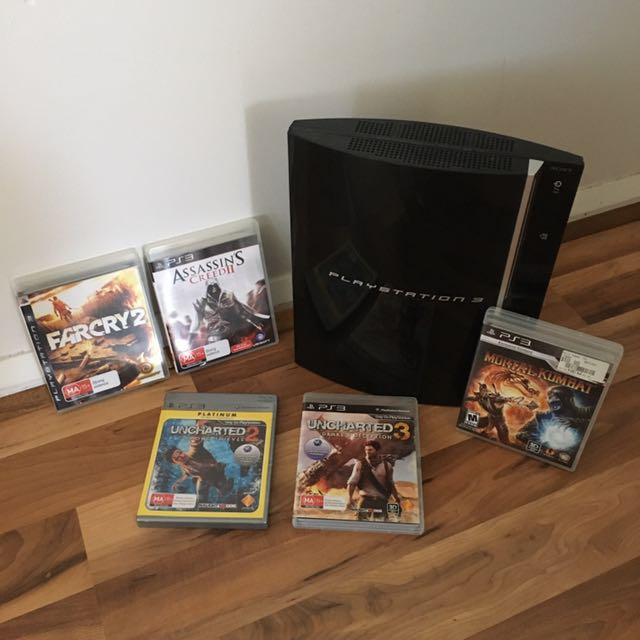 PlayStation 3 (PS3) 40GB Console With Games