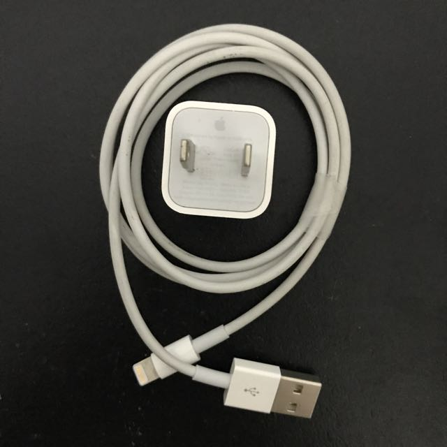 Authentic Apple Power Adapter and Lightning Cable