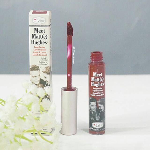 (PRELOVED WITH BOX)  The balm Meet Matte Hughe(s) Liquid Lipstick #ADORING