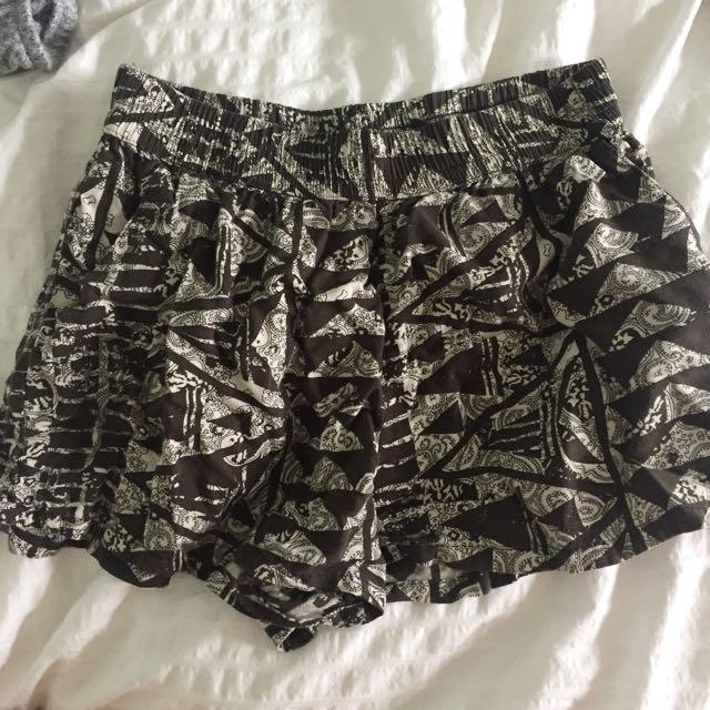 Printed Soft Flowy Shorts