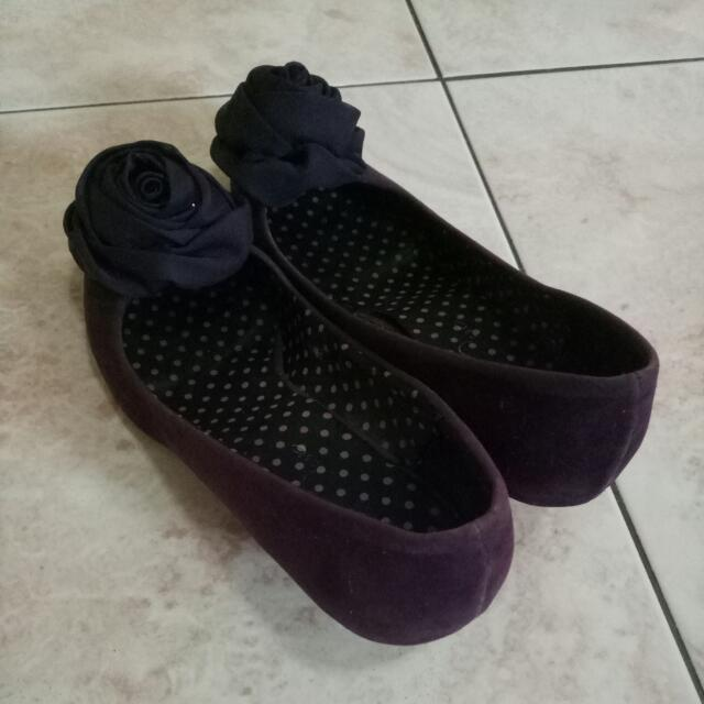 Purple Short Heel Shoes