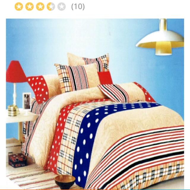 Queen Linen Bedtime Bed Sheet 3pcs.