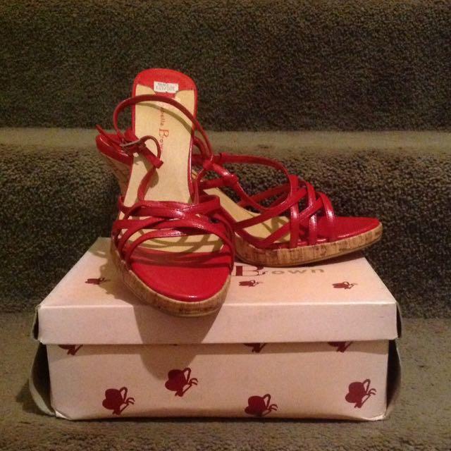 Red Cork Isabella Brown Heels