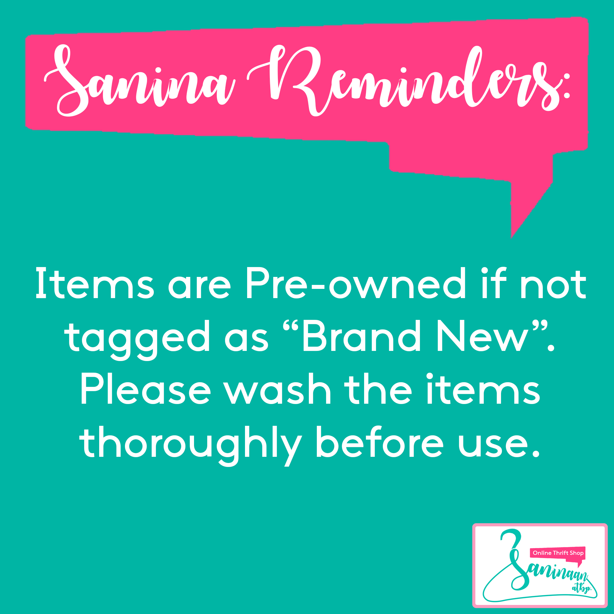Sanina Reminders!