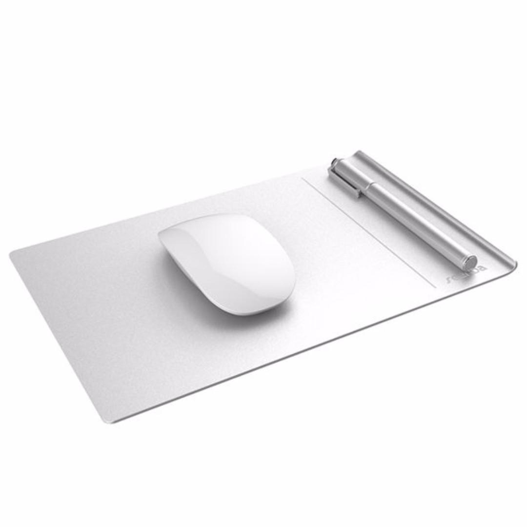Seenda 鋁合金 時尚 質感滑鼠墊 蘋果電腦 桌機 筆電適用