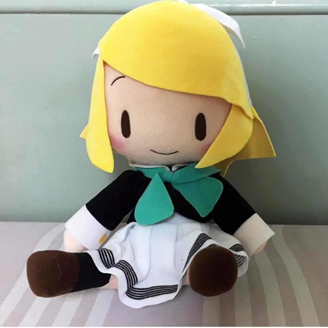 【日本正版】SEGA鏡音雙子鏡音玲34公分大坐姿娃娃
