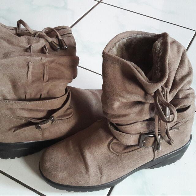 Sepatu Boot Cewe Asli Korea