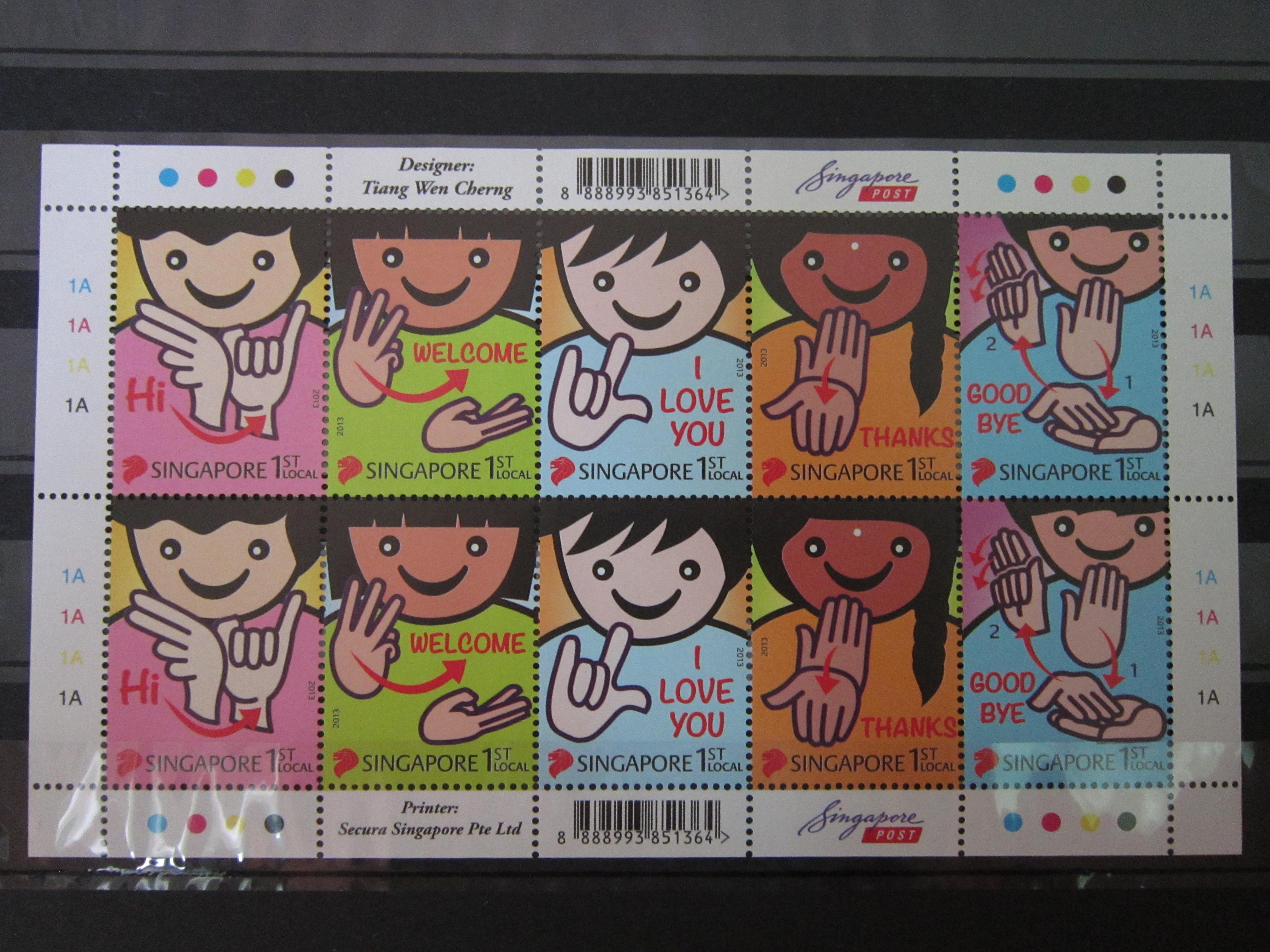 Singapore Stamps 2013 Greetings Sign Language Mnh Vintage